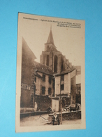 CPA, Carte Postale, Cantal 15, Chaudesaigues Chaudes-Aigues,  Eglises De St-Martin Et Saint-Blaise, Animée - Altri Comuni