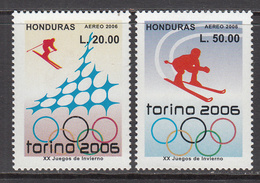 2006 Honduras Turin Winter Olympics Complete Set Of 2  MNH - Honduras
