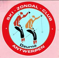 Sticker - SKI - ZONDAL - CLUB - Deurne Antwerpen - Stickers