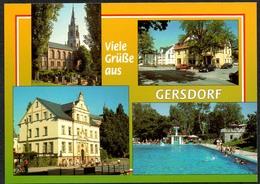 D1865 - TOP Gersdorf Freibad - Verlag Bild Und Heimat Reichenbach Qualitätskarte - Gersdorf