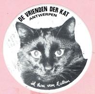 Sticker - DE VRIENDEN DER KAT Antwerpen - Ik Hou Van Katten - Stickers