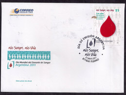 Argentina - 2011 - FDC - Journée Mondiale Du Donneur De Sang - Medizin