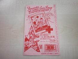 Buvard PAPIER L'ECOLIER  CROIX-ROUGE - Löschblätter, Heftumschläge