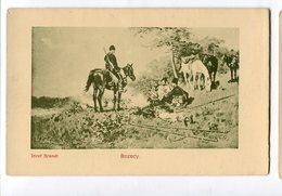 Cossack Kosaken Horse Pferd Cheval Józef Brandt  Russia  Ukraine Ethnic People Vintage Postcard  Postkarte C. 1910 - Russie