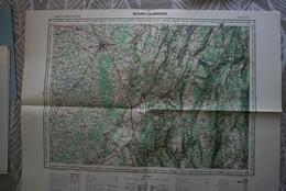 Carte IGN 1/100 000° BOURG En BRESSE Publiée1955 O-15 (dont Ambérieu, Hauteville-Lompnès, Lagnieu, Nantua, Meximieux ) - Mapas Topográficas