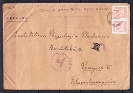ESC -363 R- LETTER FROM PORTUGAL TO CZECHOSLOVAKIA. WAR CENZURA. - Covers & Documents