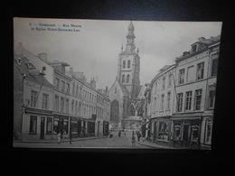96-TIENEN TIRLEMONT - Rue Neuve Et Eglise Straat En Kerk  -edit Bertels 6 -**ENVOI GRATIS VERZENDING FREE SHIPPING** - Tienen