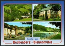D1886 - TOP Rechenberg Bienenmühle Fachwerk Freibad - Verlag Bild Und Heimat Reichenbach Qualitätskarte - Rechenberg-Bienenmühle