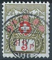 Portofreiheit 130 Alpenrosen 3A, Grünoliv/zinnober  BIGLEN     1920 - Used Stamps