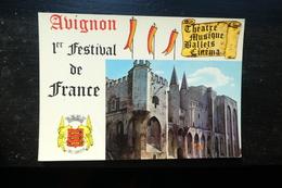 F 4 ) AVIGNON  1 ER FESTIVAL DE FRANCE  THEATRE MUSIQUE  BALLETS CINEMA  PALAIS DES PAPES - Avignon