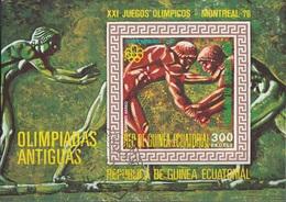 Guinea Equatorial 1975 Bf. 202 XXI Olimpiade Montreal - Antiche Olimpiadi Sheet Imperf. CTO - Estate 1976: Montreal