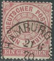 1869 GERMANIA DEL NORD CONFEDERAZIONE USATO 1 G - RB43-8 - Conf. De L' All. Du Nord