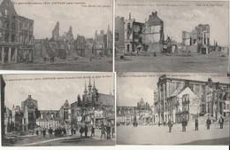 LOUVAIN.-4 OUDE KAARTEN VAN OORLOG 1914 - Leuven