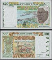 BILLET AFRIQUE DE L'OUEST 500 FRANCS - Afrique Du Sud
