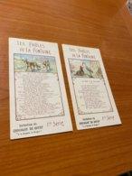 Les Fables De La Fontaine - Lot De 2 CPA -   ( Port Offert ) - Cuentos, Fabulas Y Leyendas
