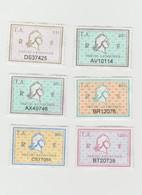 Série 6 Timbres Fiscaux Millésime 01 Et 03 -  6 Timbres Amende - Revenue Stamps