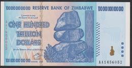 Zimbabwe 100 Trillion Dollar 2008 P91 UNC - Zimbabwe