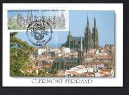 CARTE MAXIMUM -- CLERMONT-FERRAND  2004  -  LISA 0,50  SALON  PHILATELIQUE - 2000-09