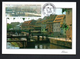 CARTE MAXIMUM -- STRASBOURG  2003  -  LISA 0,50  FOIRE  EUROPEENNE - Maximum Cards