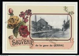 GENVAL  .....  2 Cartes Souvenirs Gare ... Train  Creations Modernes Série Limitée - Rixensart