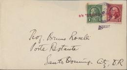 YT 228 302 United States Postage CAD Santo Domingo Rep Dominicana ENE 3 1933 + Maritime SS Borinquen Paquebot - United States