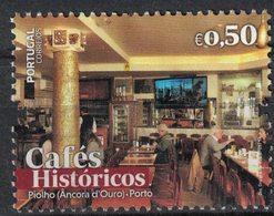 Portugal 2017 Used Cafés Históricos Cafés Historiques Café Piolho Âncora D'Ouro Porto SU - 1910-... République