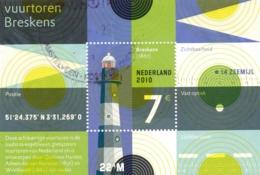 Nederland - 2010 - 7 Euro Blok Vuurtoren Breskens - NVPH 2717 - Gebruikt - Gebraucht