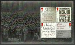 GB 2018 THE GREAT WAR WW1 1918 PEACE MILITARY POETRY BOOKLET PANE MNH - 1952-.... (Elisabetta II)