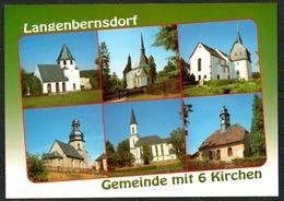 D1918 - TOP Langenbernsdorf Kirche - Verlag Bild Und Heimat Reichenbach Qualitätskarte - Duitsland