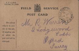 Field Service Post Card CAD Field Post Office 14 Ap 16 World War Guerre 14 - 1902-1951 (Kings)