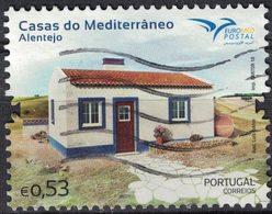 Portugal 2018 Oblitéré Used Casas Do Mediterrâneo Alentejo Maisons Méditerranéennes SU - 1910-... République