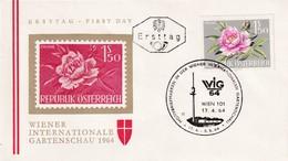 Austria 1964 Cover: Flora Flowers Fleur: WIG 64 Wien Wiener Internatioale Garden Schau; Paonie - Pflanzen Und Botanik