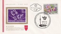 Austria 1964 Cover: Flora Flowers Fleur: WIG 64 Wien Wiener Internatioale Garden Schau; Clematis - Pflanzen Und Botanik