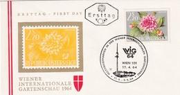 Austria 1964 Cover: Flora Flowers Fleur: WIG 64 Wien Wiener Internatioale Garden Schau; Dahlia - Pflanzen Und Botanik