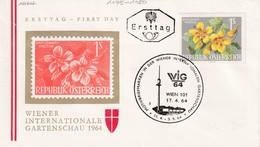 Austria 1964 Cover: Flora Flowers Fleur: WIG 64 Wien Wiener Internatioale Garden Schau; Kapuciner Kresse - Pflanzen Und Botanik