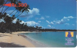 TARJETA DE SRY LANKA DE Rs.300 DE UNA PLAYA (5SRLB) - Sri Lanka (Ceilán)