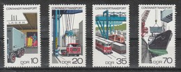 DDR  - Deutsche Demokratische Republik  - 1978  - Containertransport  -MiNr.. 2326-29 Siehe Scan - DDR