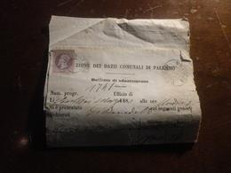 BOLLETTA DI SDAZIAMENTO CON MARCA DA BOLLO CENTESIMI 5-1880 - Fiscales