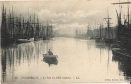 59 - DUNKERQUE - LE PORT AU SOLEIL COUCHANT - Dunkerque