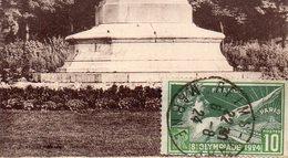 """Timbre N° 183 """" 8e Olympiade 1924 """"sur Carte Postale De Reims - Marcophilie (Lettres)"""