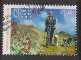 Australian Antarctic Territory ASC 228 2015 Dog Saved Macquarie Island ,$ 1.40 Man And Dog,used, - Australian Antarctic Territory (AAT)
