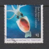 Australian Antarctic Territory ASC 240 2017 East Antarctic Deep Sea Creatures,$ 1.00 Sepia,used, - Used Stamps