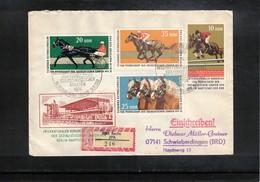 Germany / Deutschland DDR 1974  Pferderennen Michel 1963-1966 FDC Echt Gelaufenes R-Brief - Reitsport