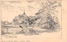 Lausanne La Cité Vue Prise De La Place De La Madeleine En 1897 - VD Waadt