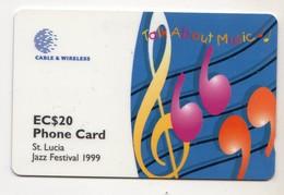 SAINTE LUCIE  REF MV CARDS  STL-288B ANNEE 1999 20$ 288CSLB MUSIQUE - Sainte Lucie