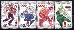 Tchécoslovaquie 1972  Mi.nr.:2050-2053 Olymoische Winterspiele,Sapporo   Oblitérés / Used / Gestempeld - Tchécoslovaquie