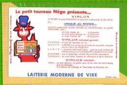 Buvard & Blotting Paper : Le Petit Taureau NEGO VIRLUX Beurre Naturel Laiterie Moderne De Vire - Leche