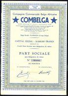 Cie Commerciale Belgo-Africaine COMBELGA - PART SOCIALE AU PORTEUR - 1952 - Bruxelles. - Actions & Titres