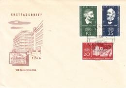 Allemagne De L'Est-Jena-9/11/1956-premier Jour Des Timbres N°Yvert -270/272 - Fotografia