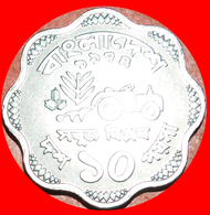 + TRACTOR FAO (1974-1979): BANGLADESH ★ 10 POISHA 1974 UNC MINT LUSTER! LOW START ★ NO RESERVE! - Bangladesch